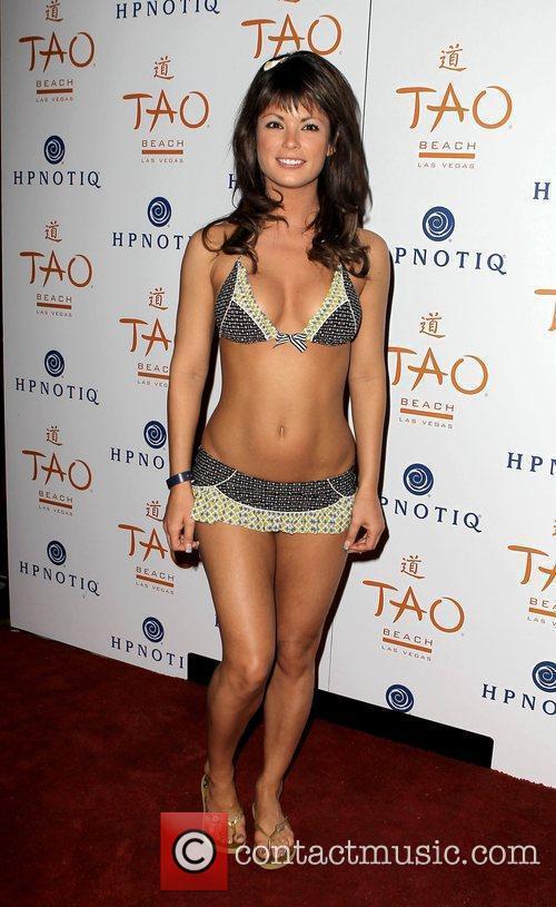 Laura Croft Holly Madison hosts A Beach Blanket...