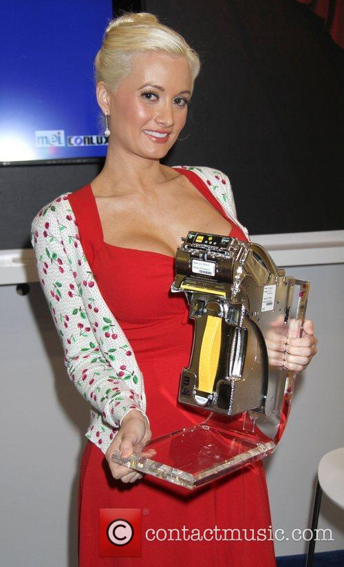 Holly Madison at the 2010 Global Gaming Convention...