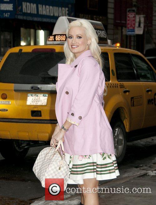 Holly Madison arrives at Fashion26 Hotel.