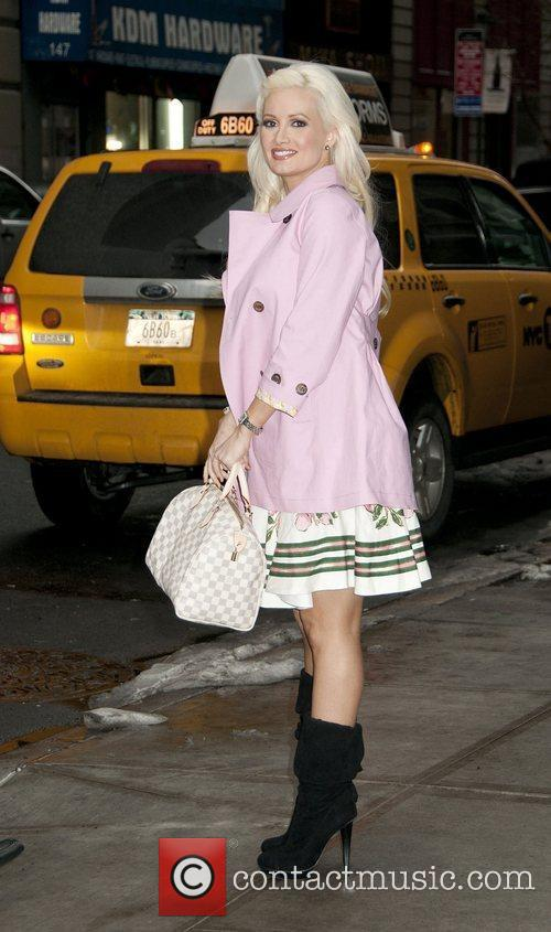 Holly Madison arrives at Fashion26 Hotel. New York...