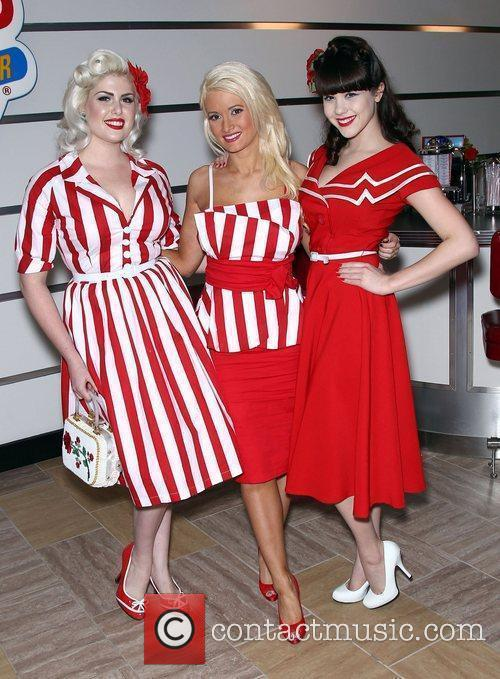 Bettie Paige, Holly Madison and Claire Sinclaire Holly...