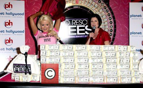 Holly Madison hosts a special event at Planet...