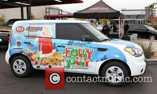 Holly Madison Toys for Tots event at Findley...
