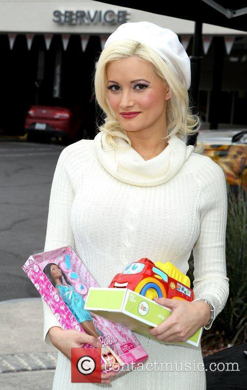 Holly Madison Holly Madison Toys for Tots event...