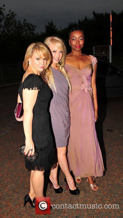 Jessica Fox, Jorgie Porter and Phina Oruche outside...
