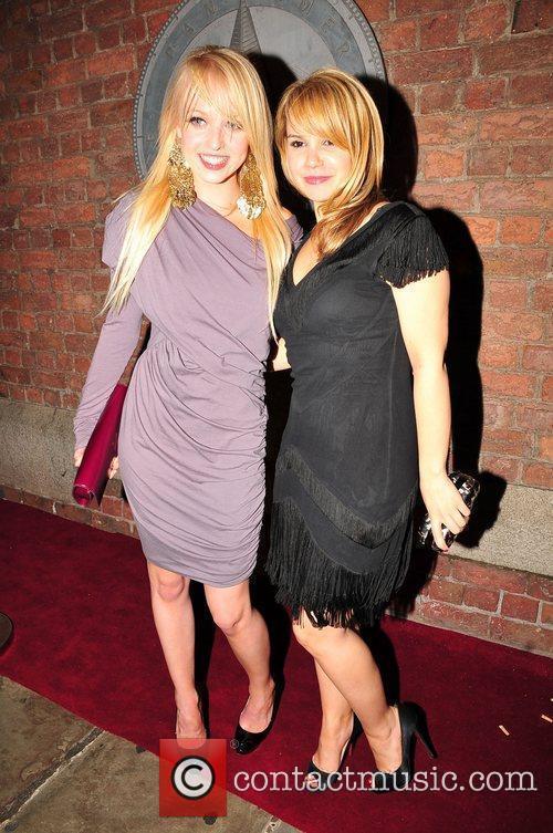 Jorgie Porter and Jessica Fox outside Pan Am...