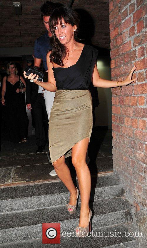 Sheree Murphy outside Pan Am bar and restaurant
