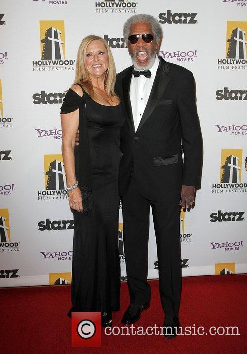 Lori McCreary and Morgan Freeman 14th Annual Hollywood...