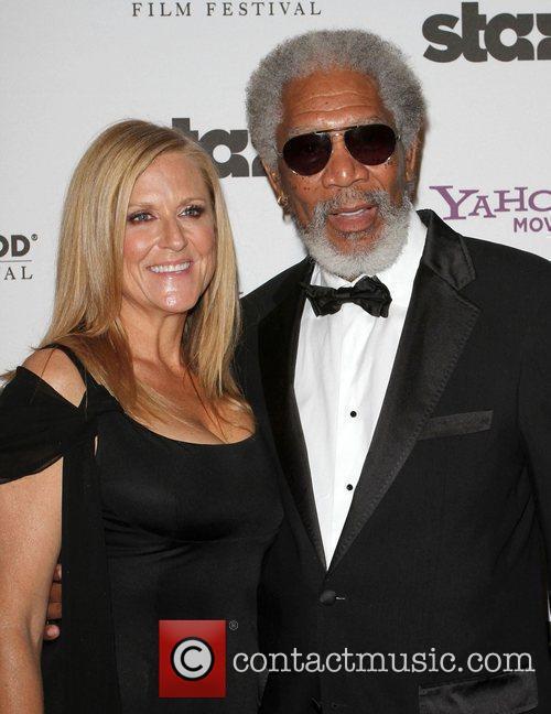 Lori Mccreary and Morgan Freeman 4