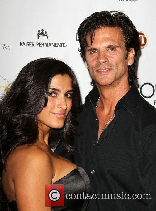 Lorenzo Lamas and guest the 50th anniversary birthday...