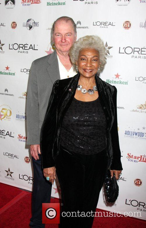 Nichelle Nichols and guest The 50th anniversary Birthday...