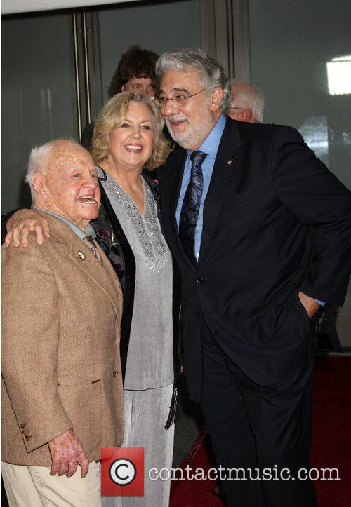 Micky Rooney, Jan Rooney and Placido Domingo...