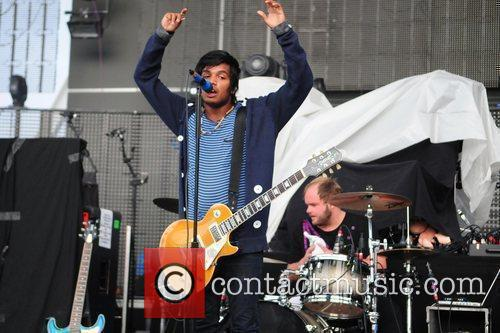 Daniel Kadawatha of Swedish rock band Kadawatha performs...