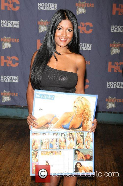 Jasmine, of NYC  The Hooters Swimsuit Calendar...
