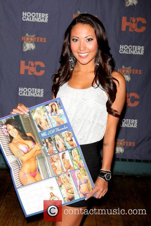 Leslie, of FL  The Hooters Swimsuit Calendar...