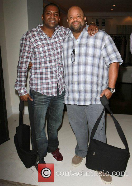 Mekhi Phifer and Guest The Hospitality Suite hosted...