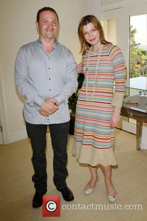 Milla Jovovich and Pacal Mouawad The Hospitality Suite...