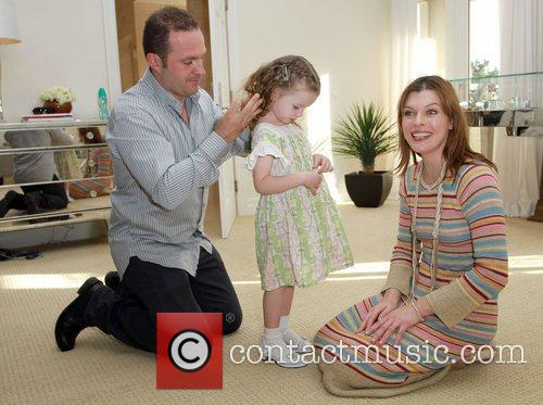 Milla Jovovich with daughter Ever Gabo and Pacal...