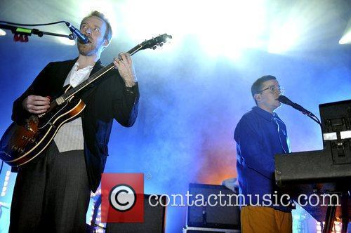Al Doyle and Alexis Taylor Hot Chip performing...