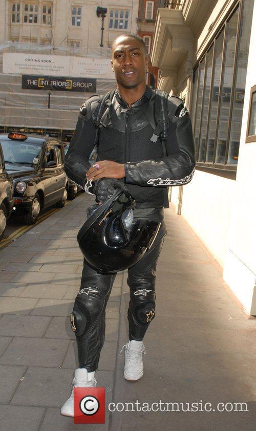 Simon Webbe outside his London Hotel London, England
