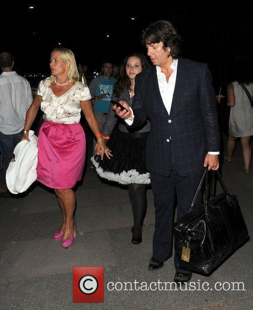 Laurence Llewelyn-Bowen with wife Jackie Llewelyn-Bowen and daughter...