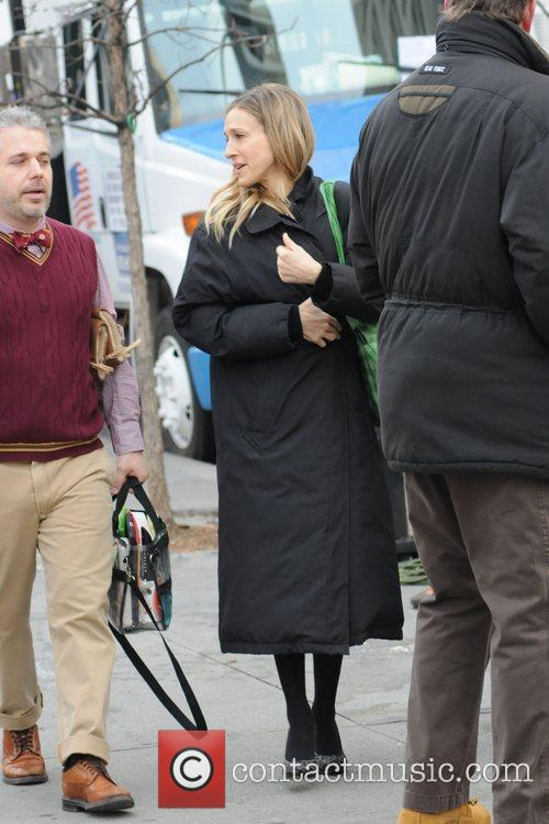 Sarah Jessica Parker on the film set of...