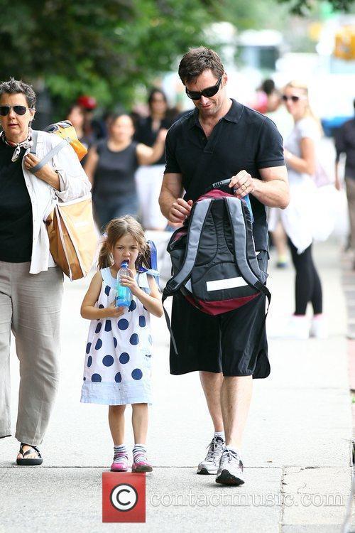 Hugh Jackman walks his daughter Ava Jackman home...