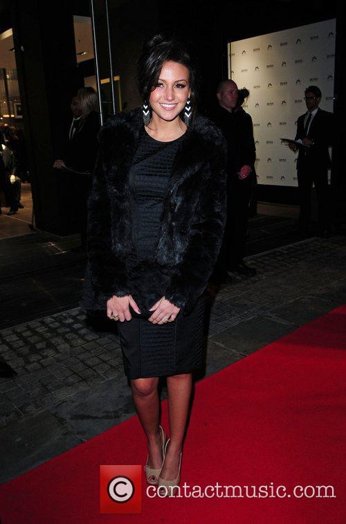 Michelle Keegan Hugo Boss store launch Manchester, England