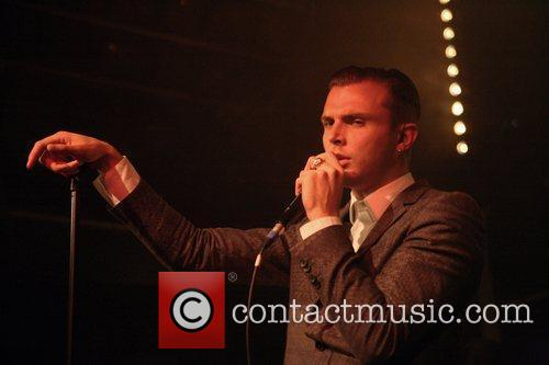 Of synthpop band, Hurts performing live at Desmet...