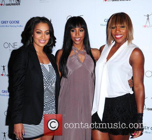 Lala Vasquez, Kelly Rowland and Serena Williams Kelly...