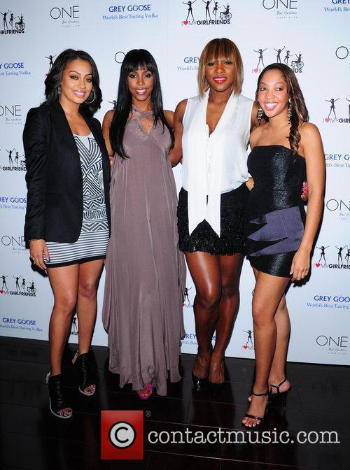 Lala Vasquez, Kelly Rowland, Serena Williams and Miss...