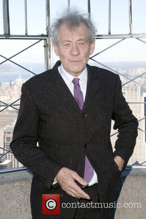 Sir Ian McKellan lights the Empire State Building...