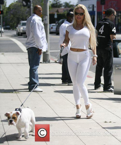 Ice T's wife Coco and their pet dog...