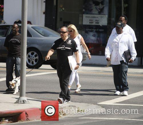 Ice T was spotted shopping on Melrose Avenue...