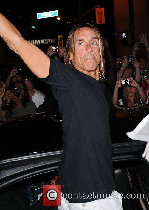 Iggy Pop  leaves Yonge-Dundas Square after performing...