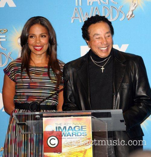 Sanaa Lathan and Smokey Robinson 4