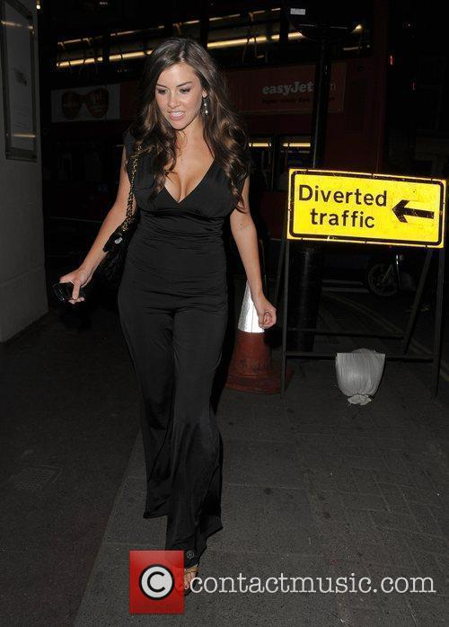Imogen Thomas arriving at her hotel London, England