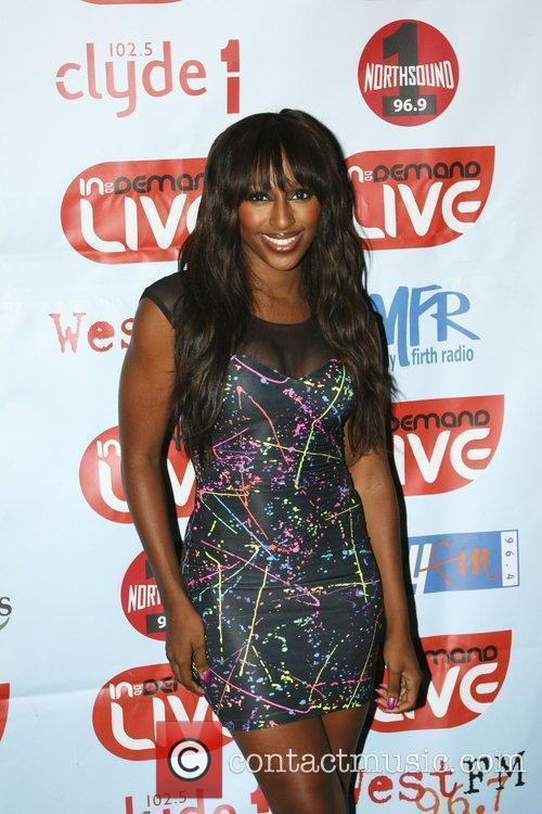 Alexandra Burke before her performance at the In:...