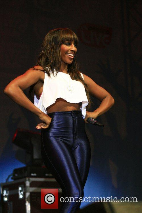Alexandra Burke performing live at the In: Demand...