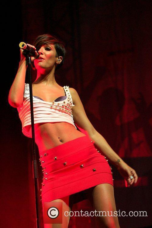 Frankie Sandford of The Saturdays performing live at...