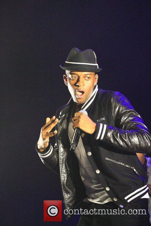 Oritse Williams of JLS performing at the In:...