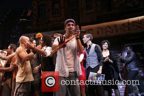 Cast and Lin-manuel Miranda 2