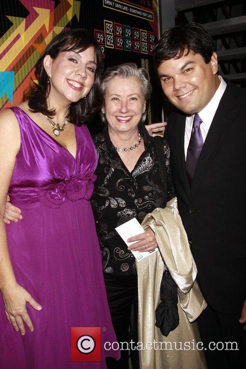 Kristen Anderson-Lopez, Paulette Haupt and Bobby Lopez Opening...