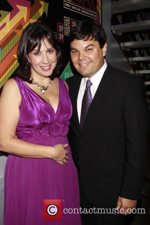 Kristen Anderson-Lopez and Bobby Lopez Opening night of...