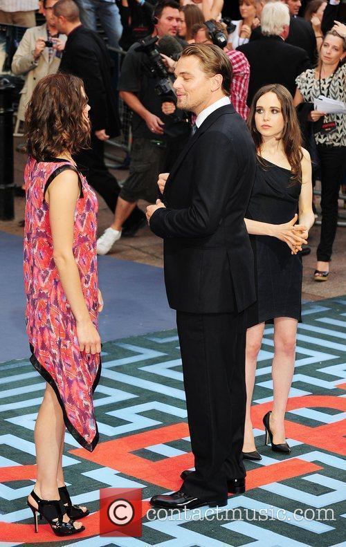 Marion Cotillard, Ellen Page and Leonardo Dicaprio 1
