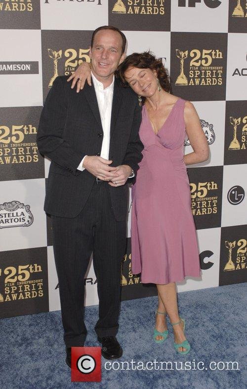 Clark Gregg, wife Jennifer Grey, Independent Spirit Awards