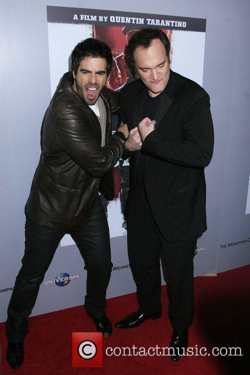 Eli Roth and Director Quentin Tarantino 2