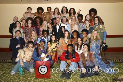 Mayor Michael Bloomberg and the cast of the...