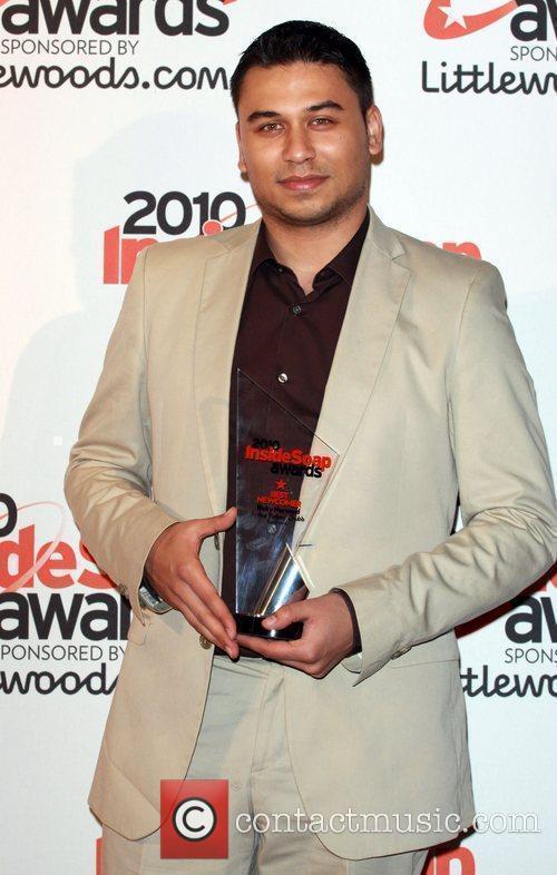 Ricky Norwood winner of best newcomer The Inside...