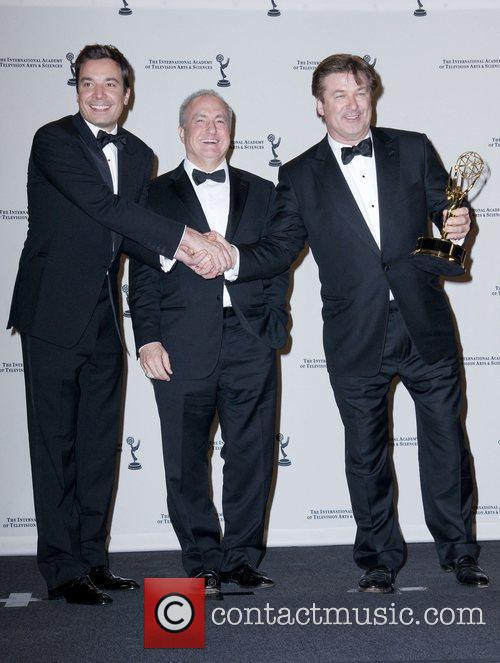 Jimmy Fallon, Alec Baldwin and Lorne Michaels 3